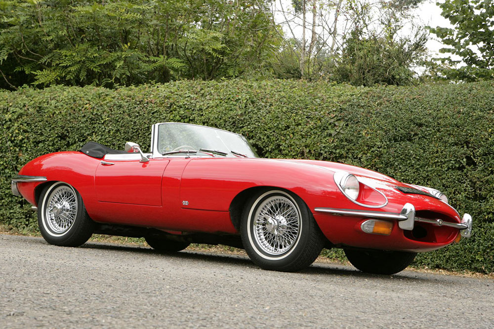 Jaguar E-Type Hire - Ideal for weddings